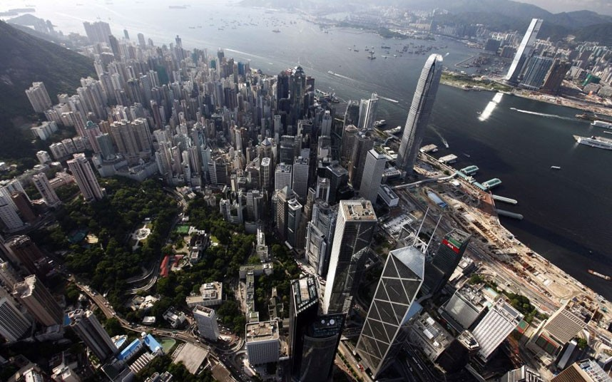 Kínai város képe felülnézetből