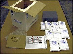 Bepakolásra, szállításra váró termékek