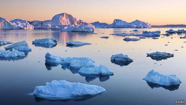 Olvadó jégtömbök
