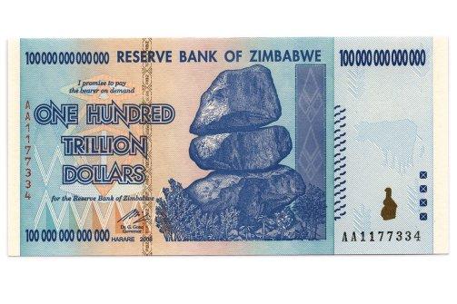 Zimbabwei egyszáztrillió dolláros